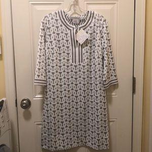 NWT Gretchen Scott Jersey Split Neck Dress